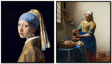 """The Lady with the Pearl Earring"" and ""The Milkmaid"""