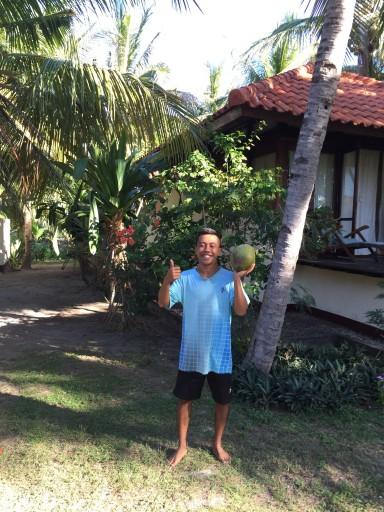 my morning coconut juice