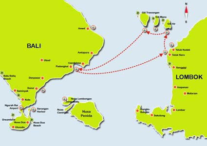 Route to the islands