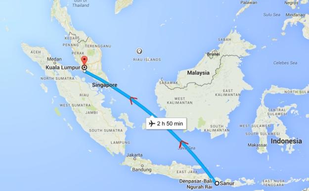 Indonesia to Malaysia