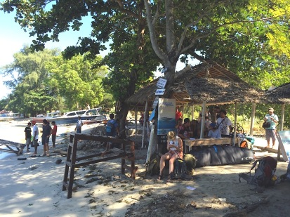 waiting for the fast boat to Padangbai
