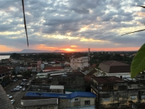 Sunset from the roof of the Pakse hotel