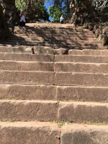 Steep stairs up
