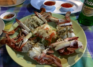 Steamed crab tomorrow night