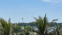 View across the Perfume River from our terrace.