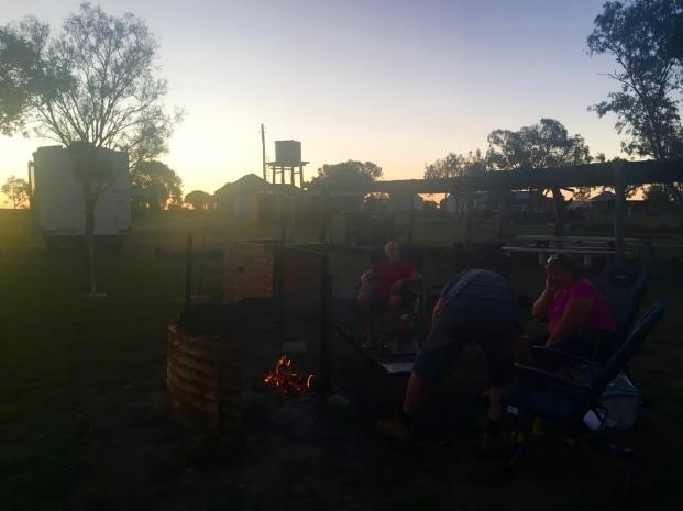 First camp fire