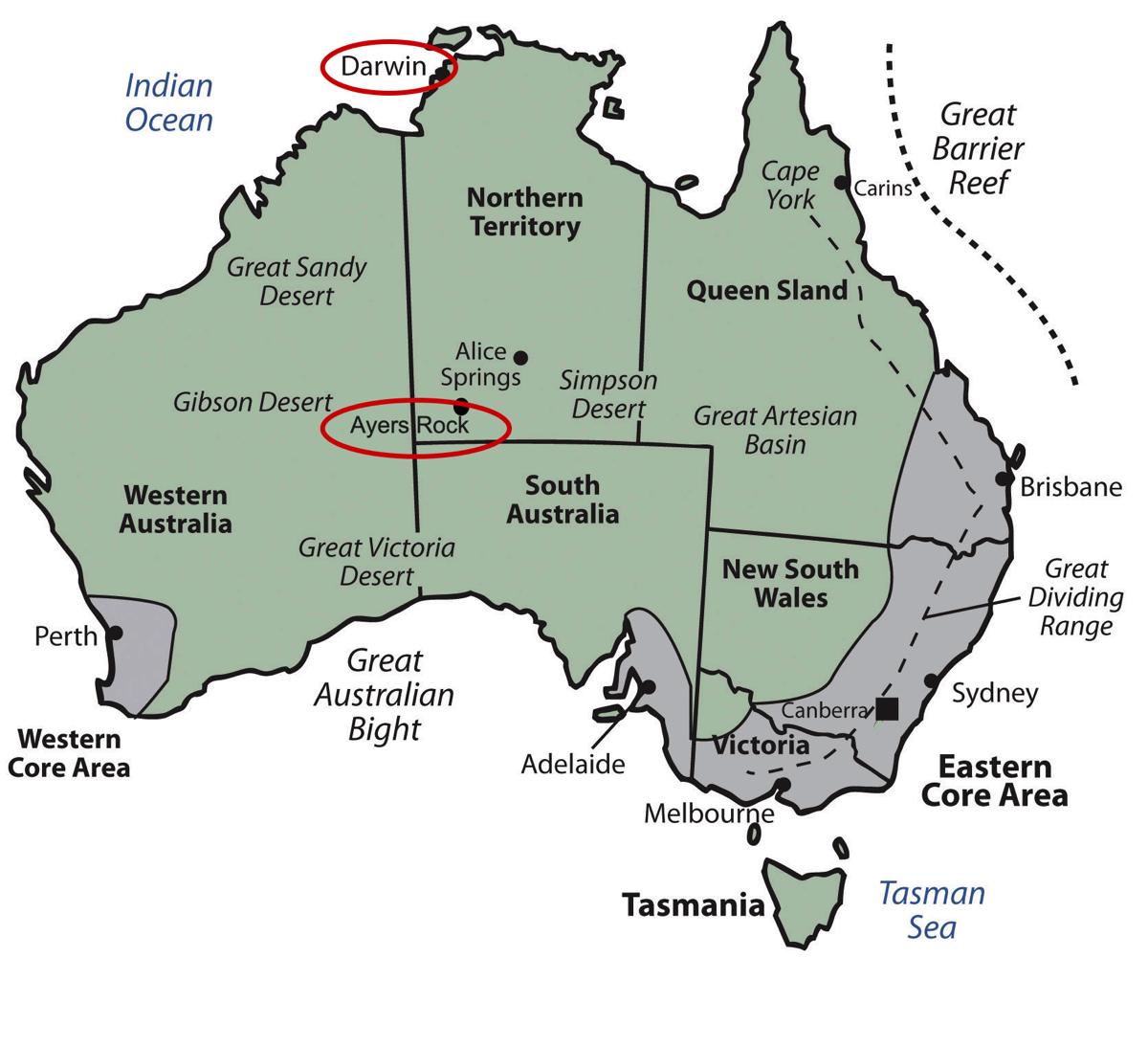 Darwin to Ayers Rock